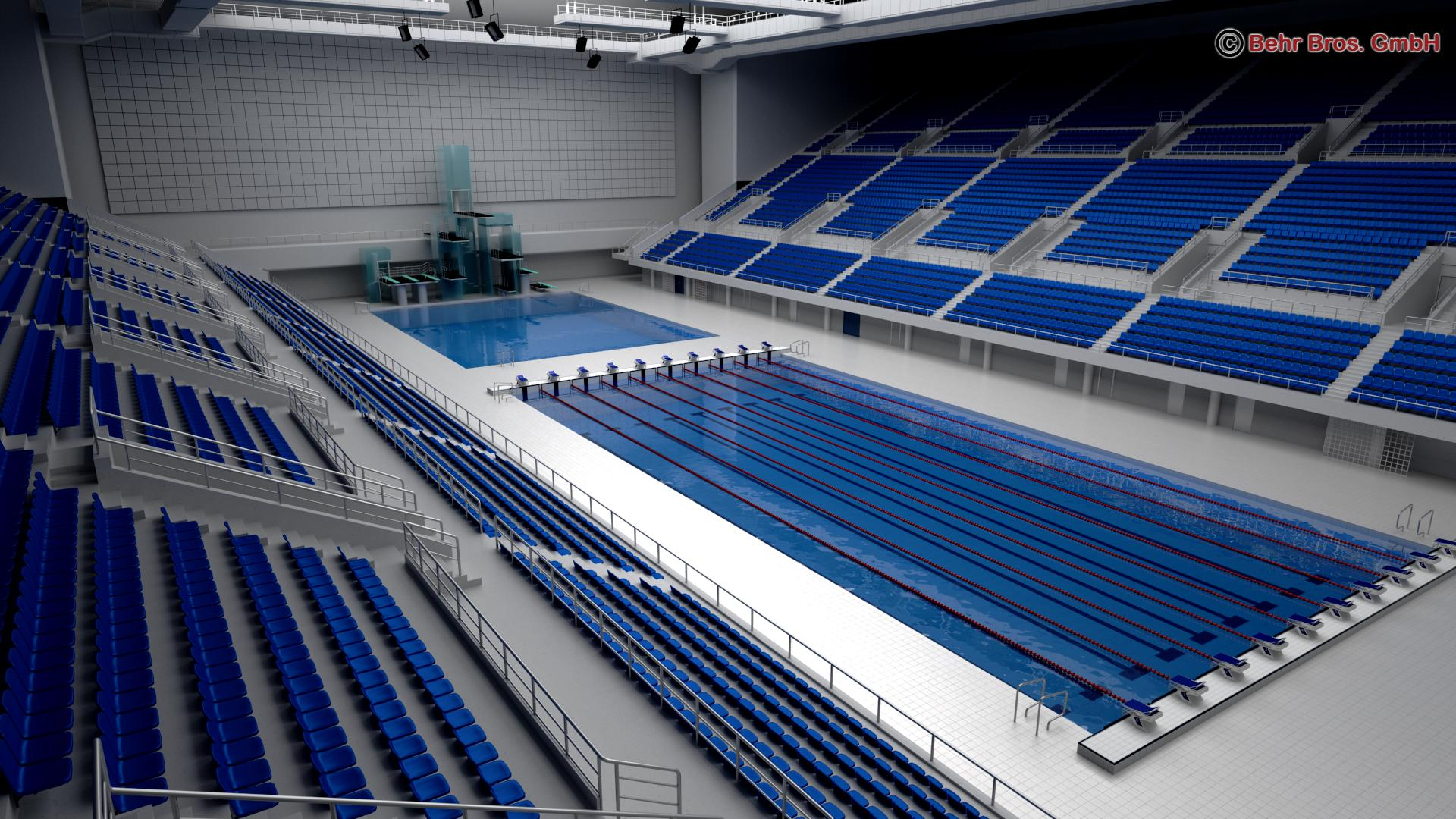 swim stadium 3d model 3ds max fbx c4d lwo ma mb obj 204429