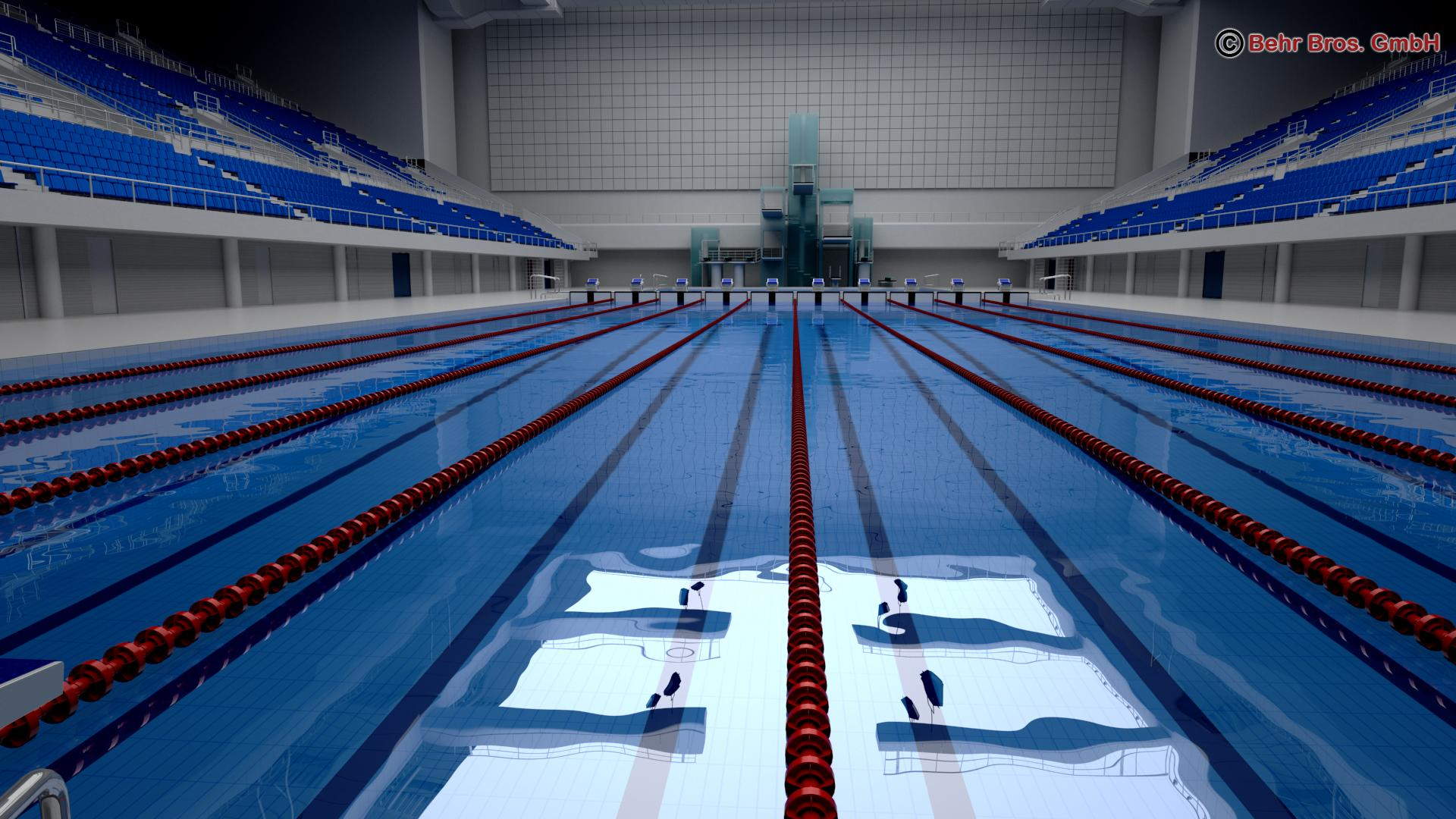 swim stadium 3d model 3ds max fbx c4d lwo ma mb obj 204430