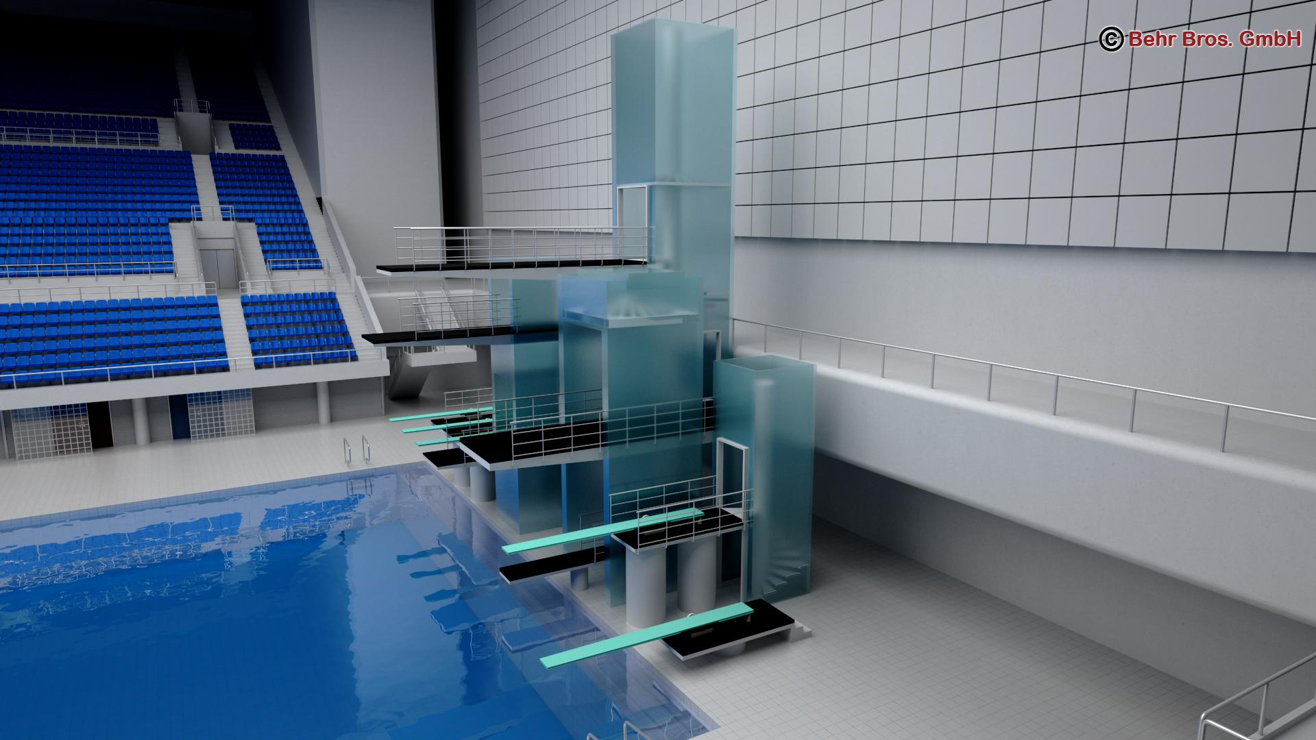swim stadium 3d model 3ds max fbx c4d lwo ma mb obj 204433