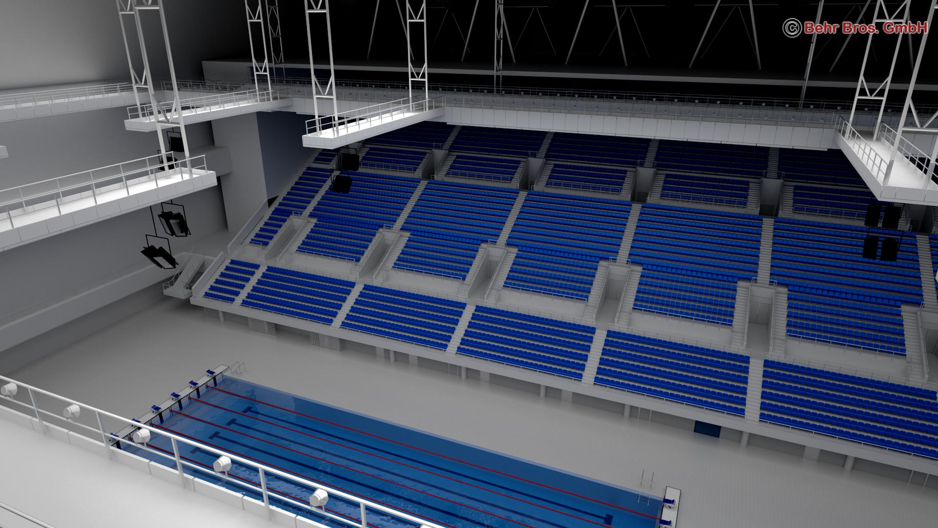 swim stadium 3d model 3ds max fbx c4d lwo ma mb obj 204438