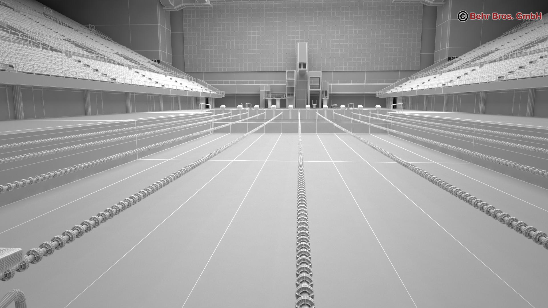 swim stadium 3d model 3ds max fbx c4d lwo ma mb obj 204440