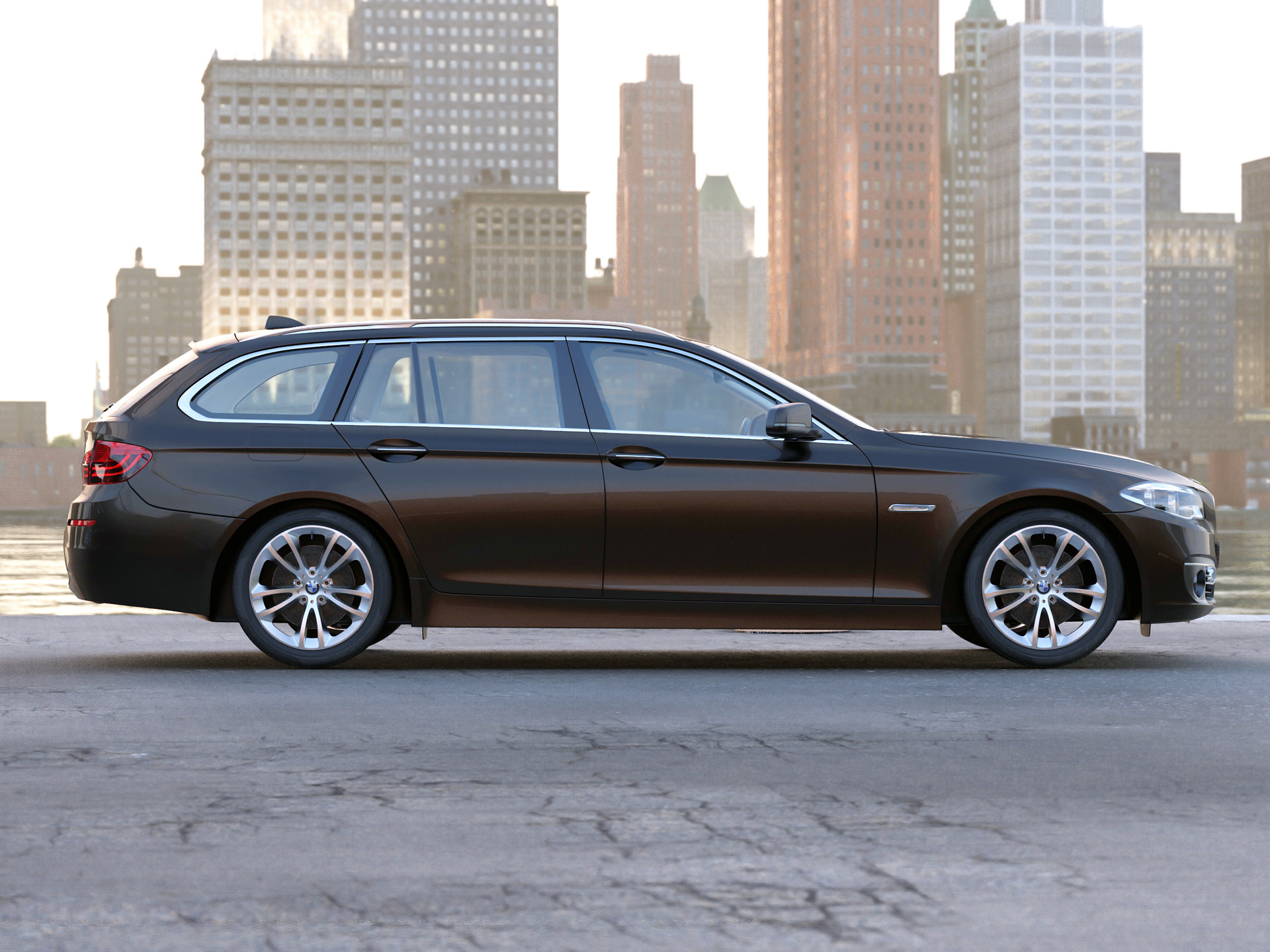 bmw 5 series touring 2014 3d model buy bmw 5 series. Black Bedroom Furniture Sets. Home Design Ideas