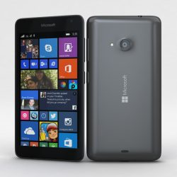 Microsoft Lumia 535 and Dual SIM Gray 3d model 0