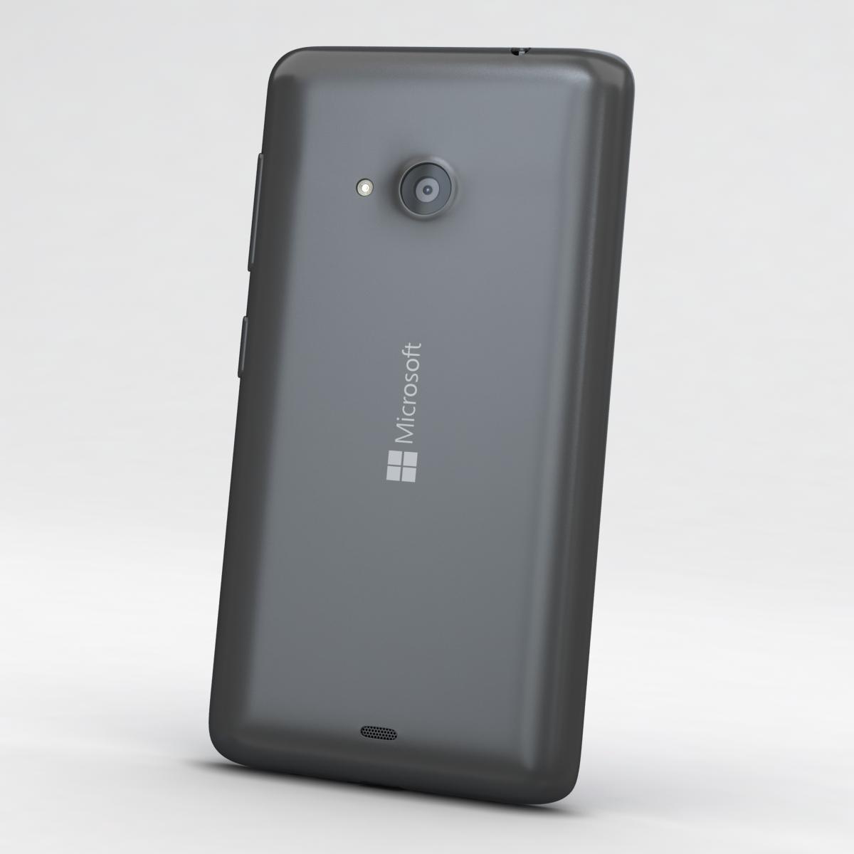 microsoft lumia 535 and dual sim gray 3d model 3ds max fbx c4d obj 204465
