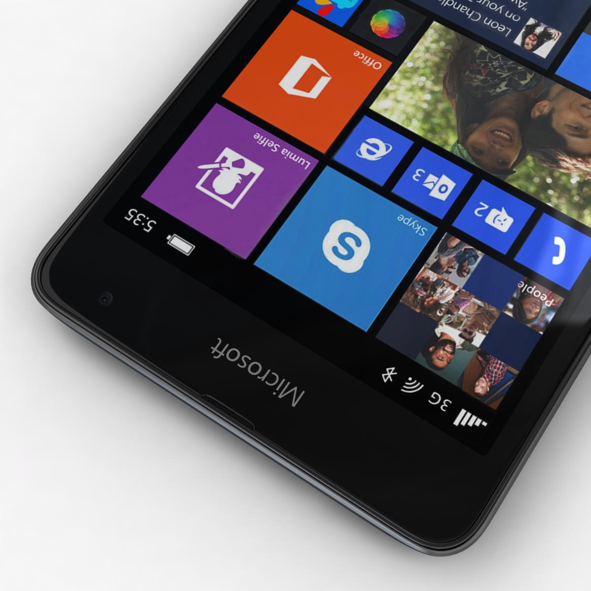 microsoft lumia 535 and dual sim gray 3d model 3ds max fbx c4d obj 204467