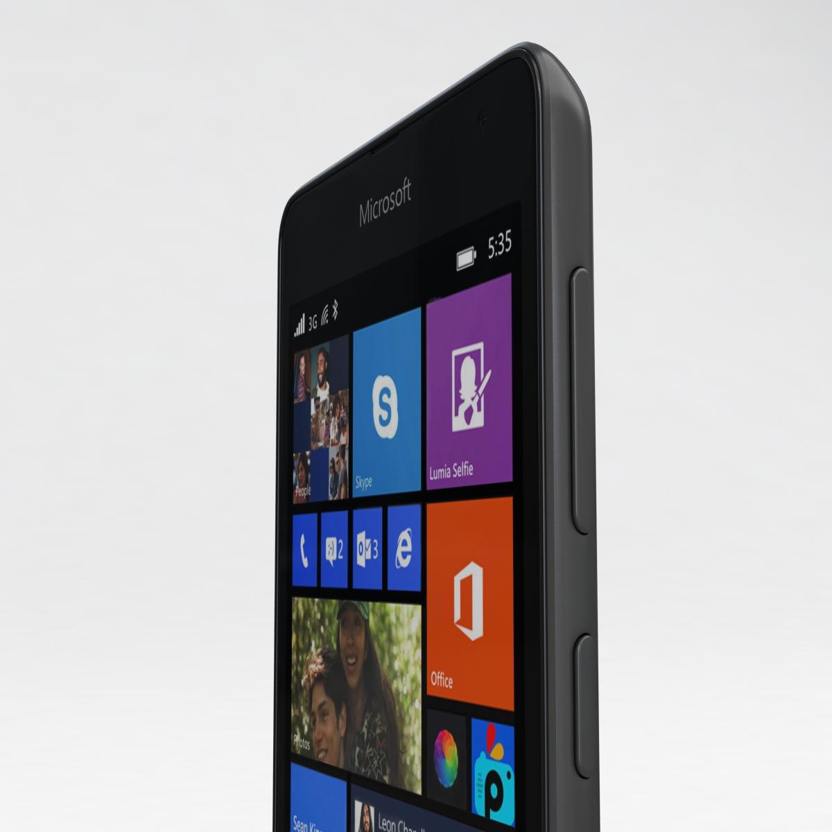 microsoft lumia 535 and dual sim gray 3d model 3ds max fbx c4d obj 204472