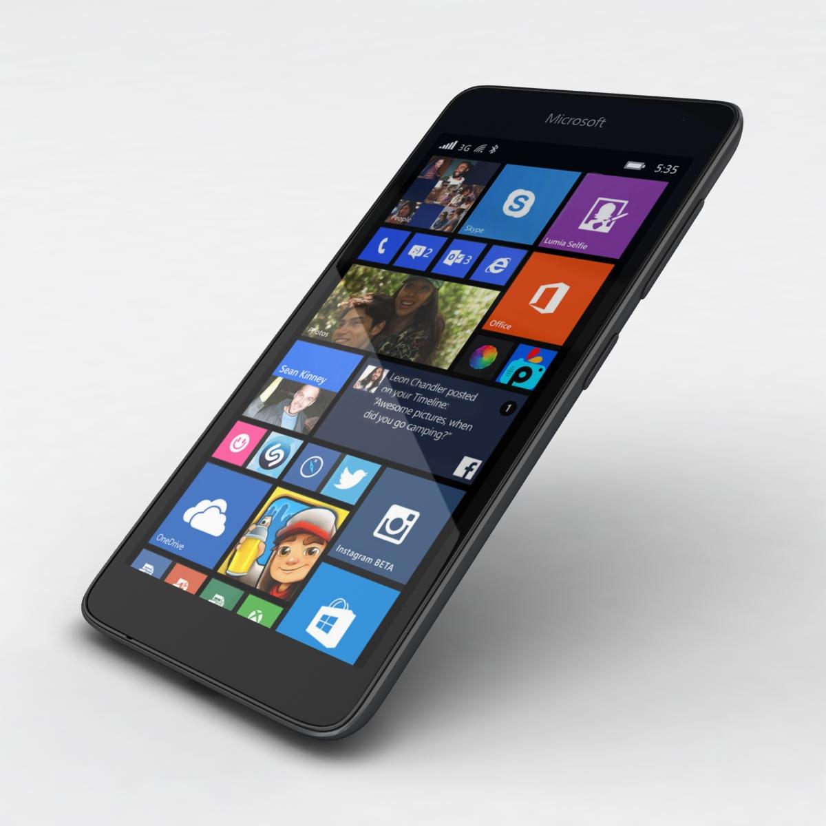 microsoft lumia 535 and dual sim gray 3d model 3ds max fbx c4d obj 204474