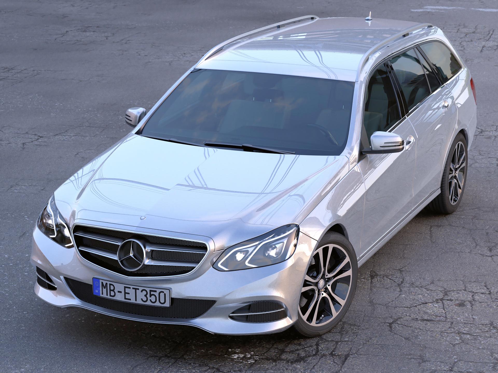 mercedes benz e class t model 2014 3d model 3ds max fbx c4d obj 204489