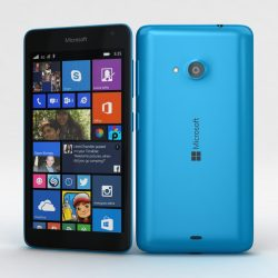Microsoft Lumia 535 and Dual SIM Blue 3d model 3ds max fbx c4d obj