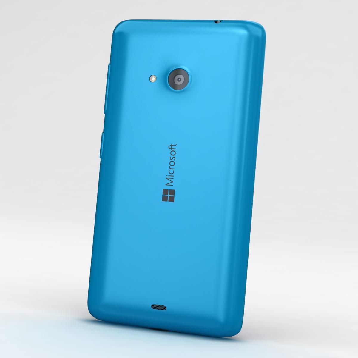 microsoft lumia 535 and dual sim blue 3d model 3ds max fbx c4d obj 204524