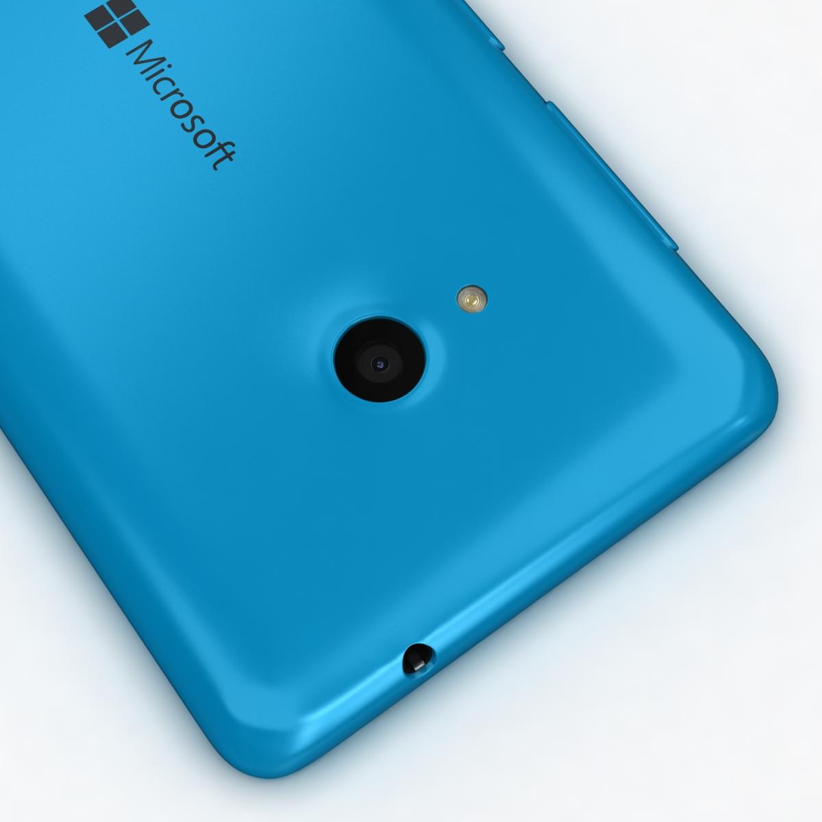 microsoft lumia 535 and dual sim blue 3d model 3ds max fbx c4d obj 204528