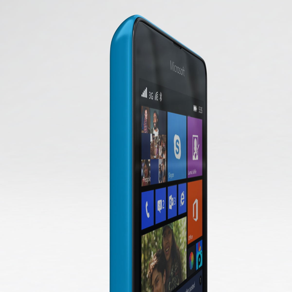 microsoft lumia 535 and dual sim blue 3d model 3ds max fbx c4d obj 204532