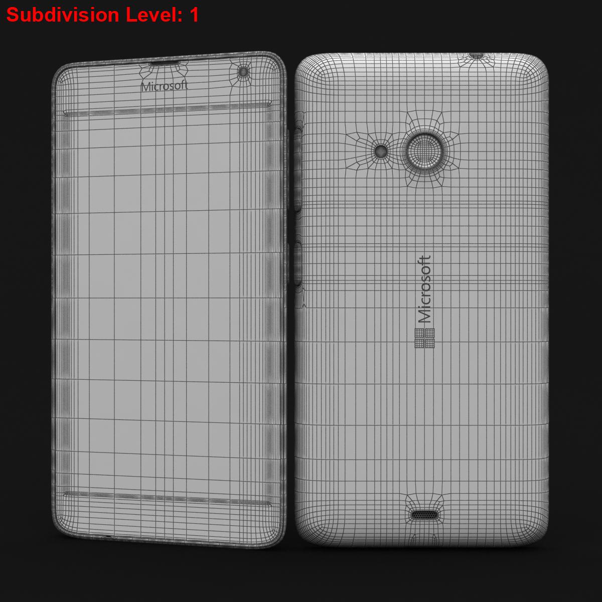 microsoft lumia 535 and dual sim blue 3d model 3ds max fbx c4d obj 204538