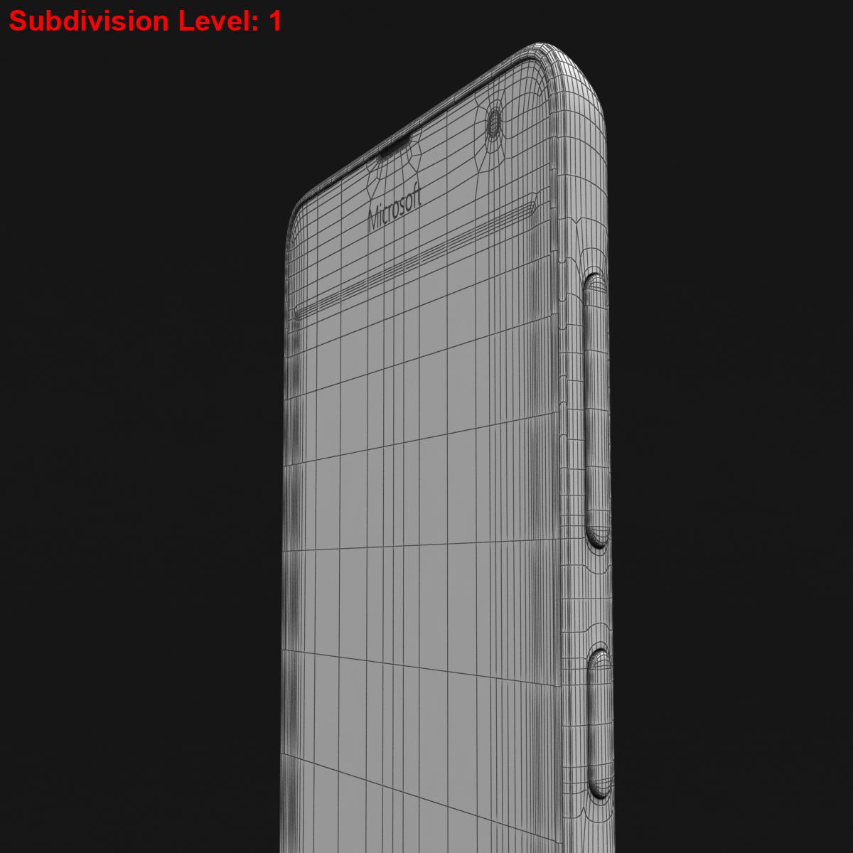 microsoft lumia 535 and dual sim blue 3d model 3ds max fbx c4d obj 204540
