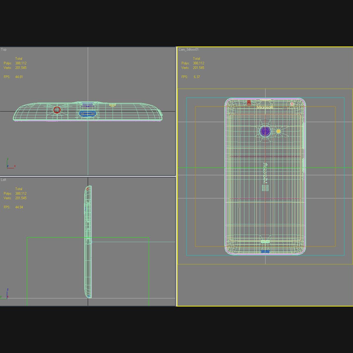 microsoft lumia 535 and dual sim blue 3d model 3ds max fbx c4d obj 204546