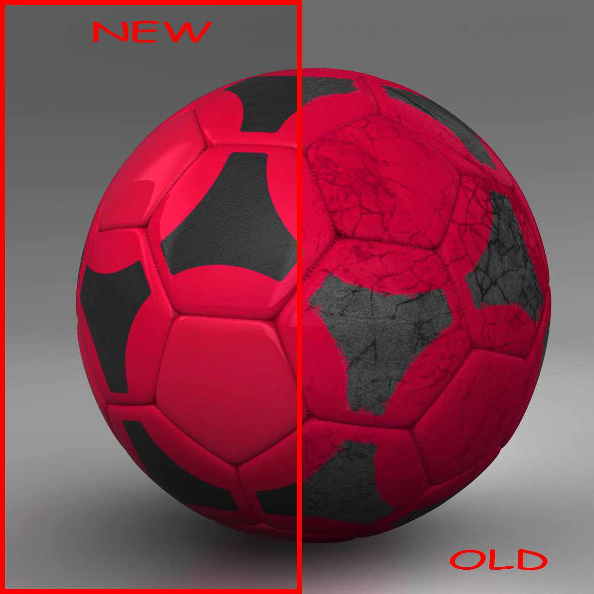 soccerball red black 3d model 3ds max fbx c4d ma mb obj 204548