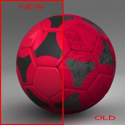 Soccerball red black ( 446.87KB jpg by mikebibby )