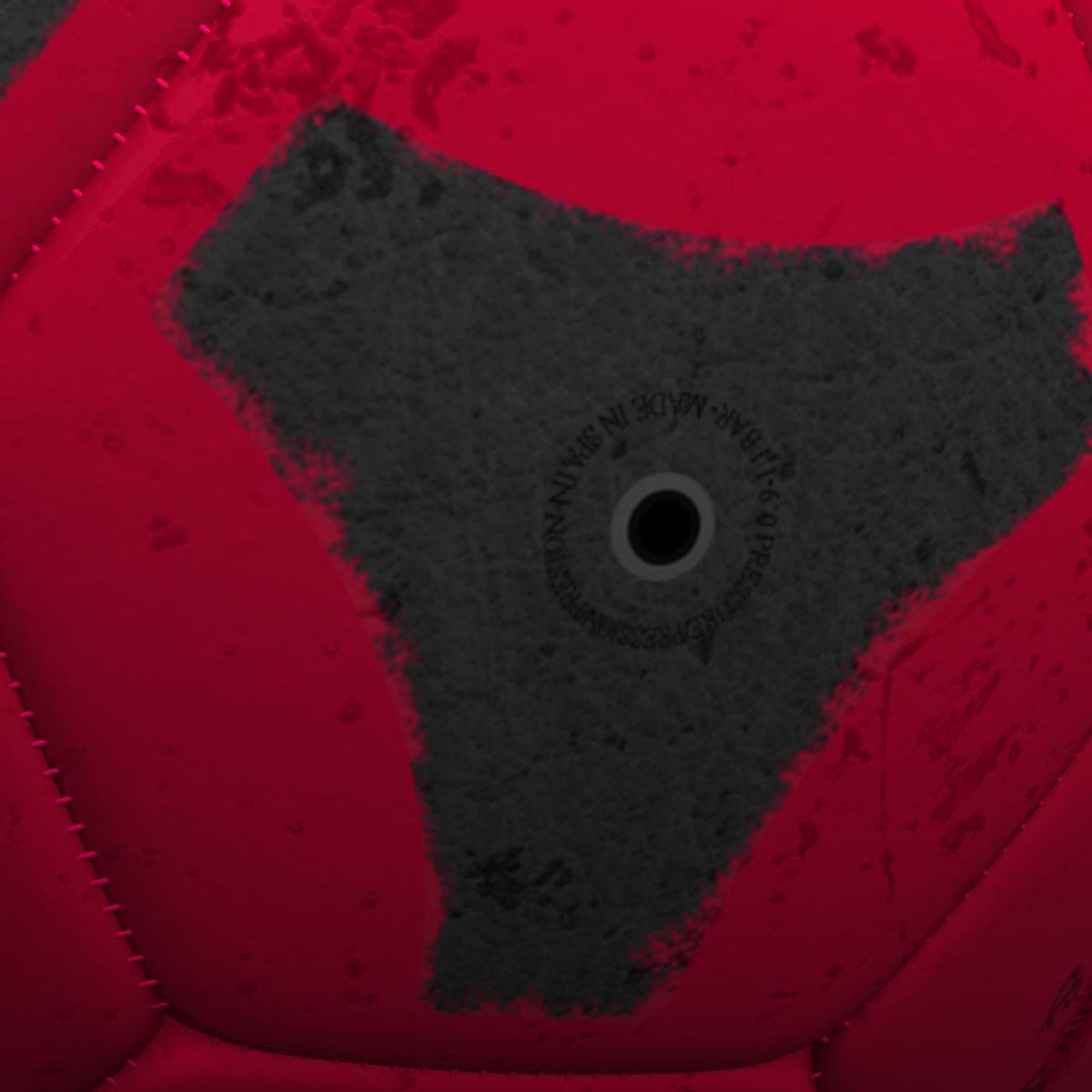 soccerball red black 3d model 3ds max fbx c4d ma mb obj 204549