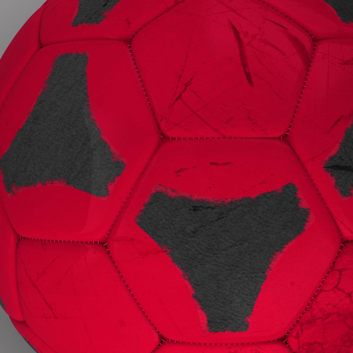 soccerball red black 3d model 3ds max fbx c4d ma mb obj 204551