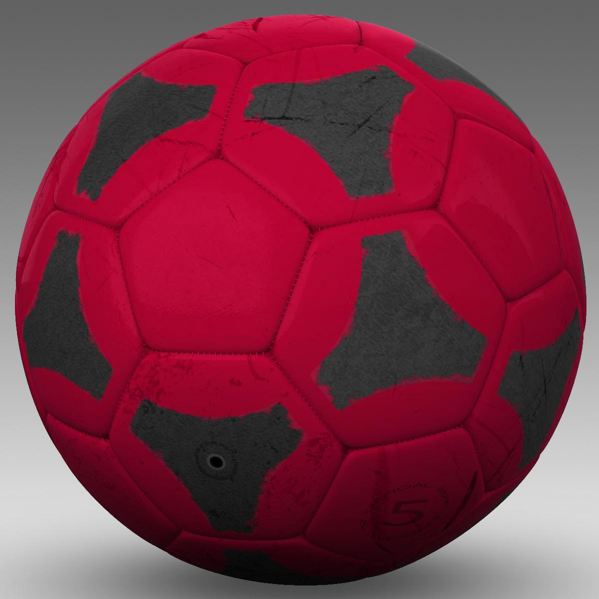 soccerball red black 3d model 3ds max fbx c4d ma mb obj 204554