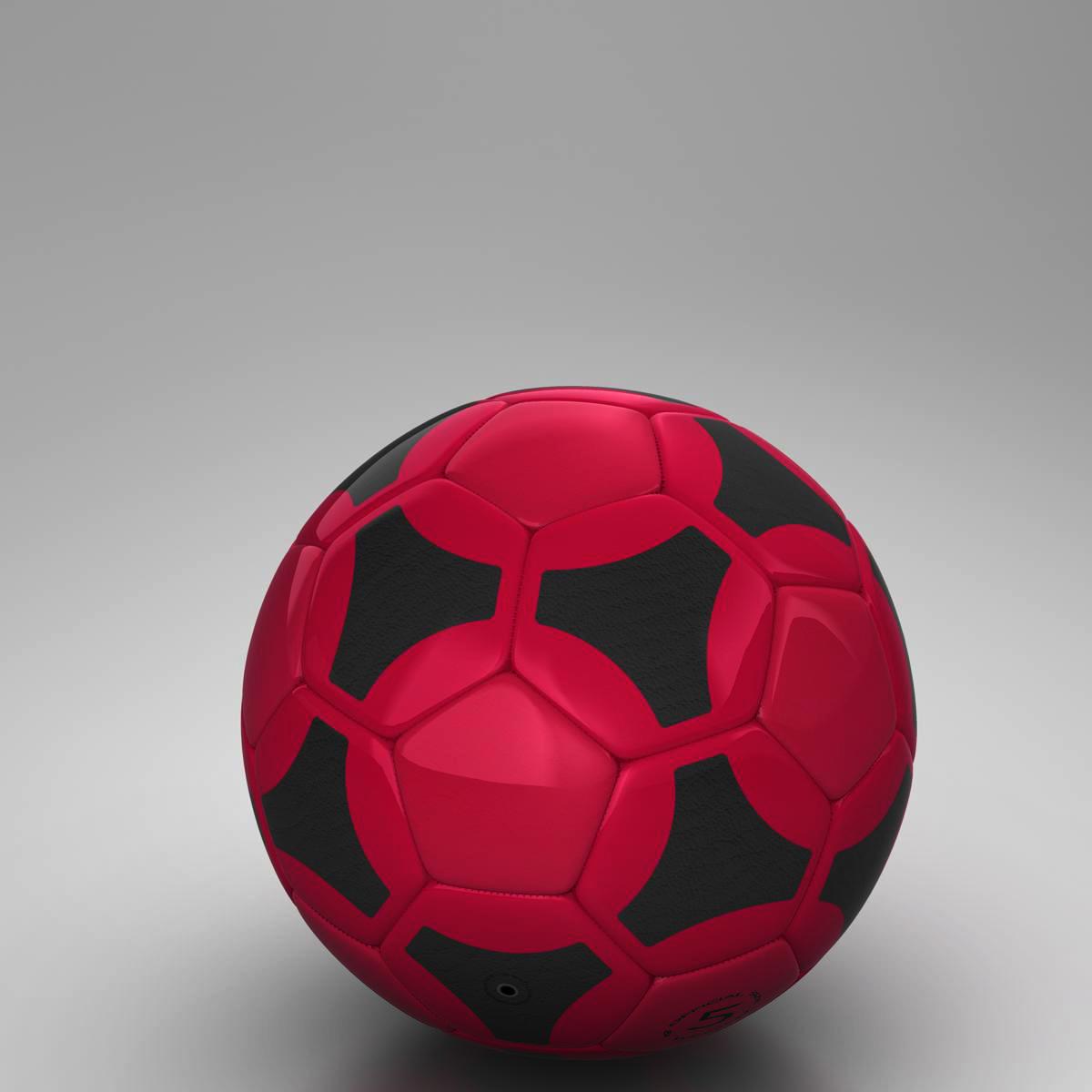 soccerball red black 3d model 3ds max fbx c4d ma mb obj 204555