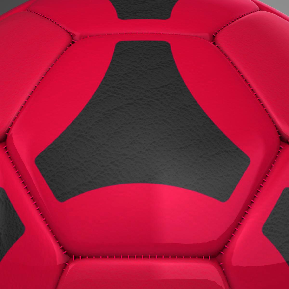 soccerball red black 3d model 3ds max fbx c4d ma mb obj 204556