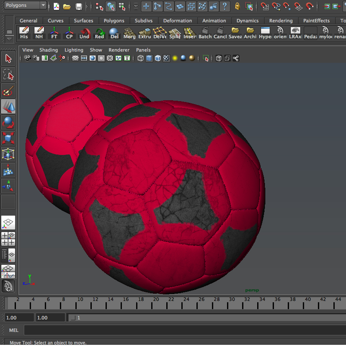 soccerball red black 3d model 3ds max fbx c4d ma mb obj 204557