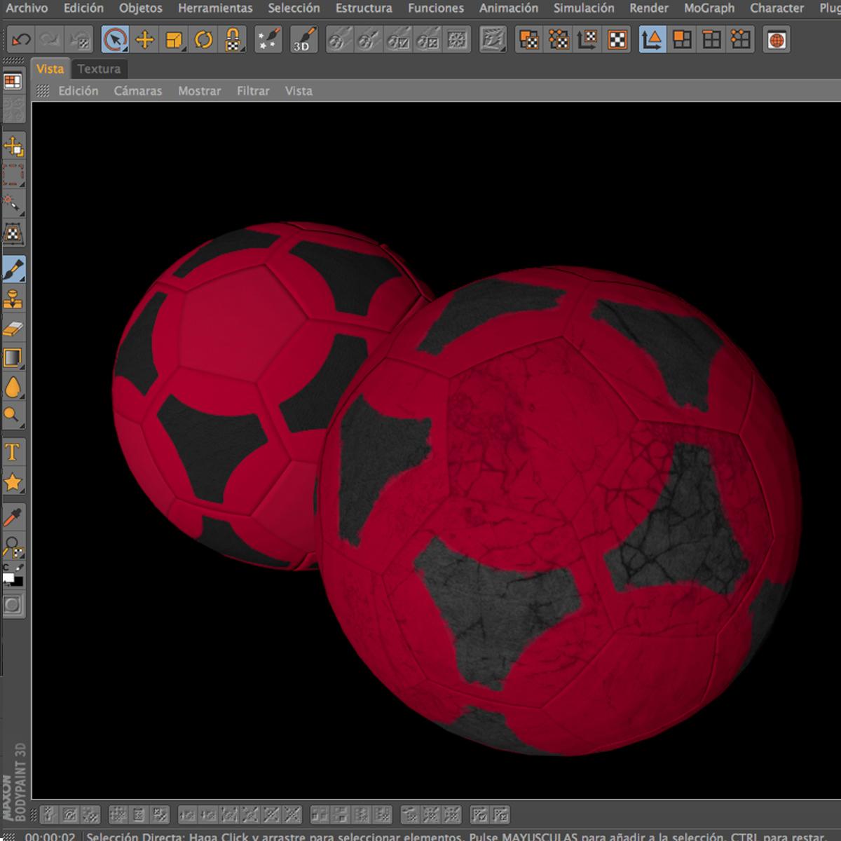 soccerball red black 3d model 3ds max fbx c4d ma mb obj 204558