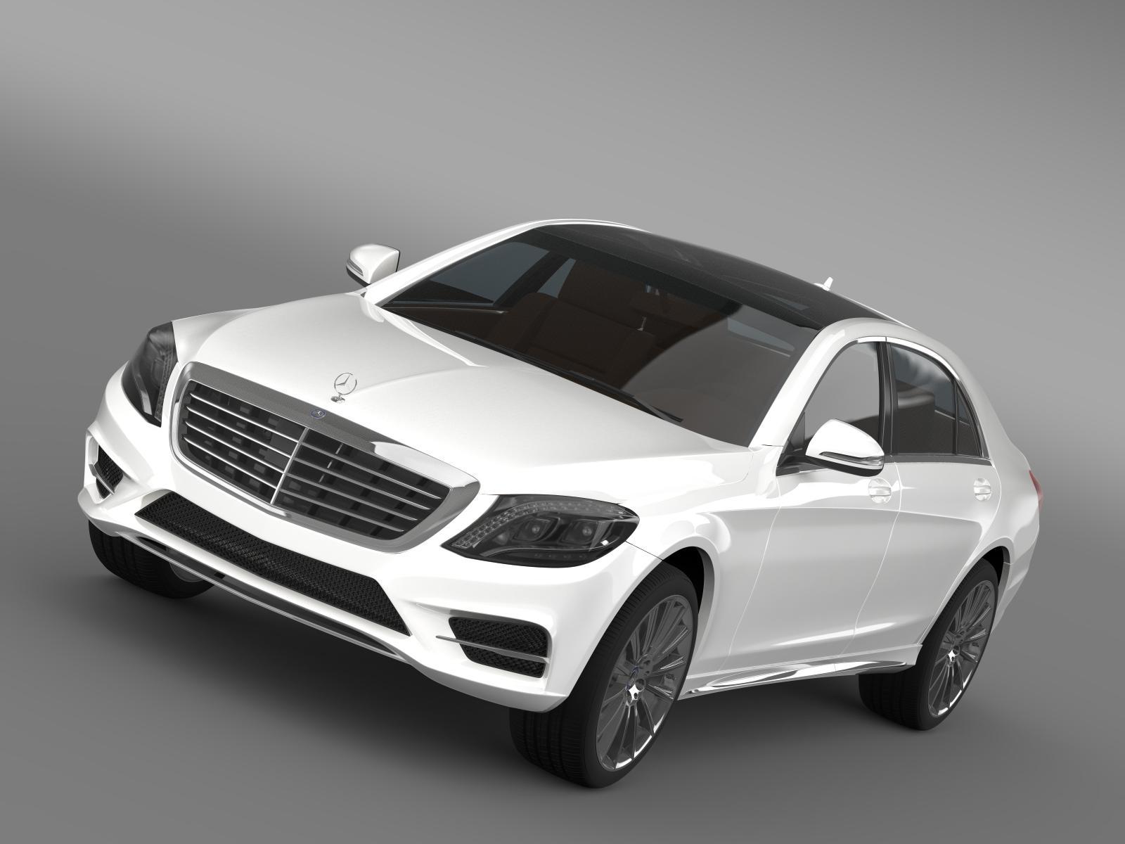 amg mercedes benz s 350 bluetec w222 2013 3d model 3ds fbx c4d lwo ma mb hrc xsi obj 204598