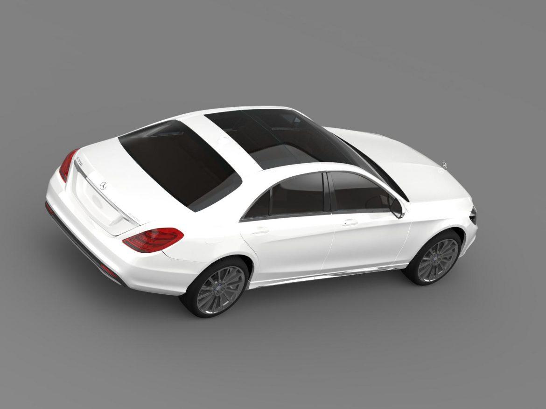 amg mercedes benz s 350 bluetec w222 2013 3d model 3ds fbx c4d lwo ma mb hrc xsi obj 204607