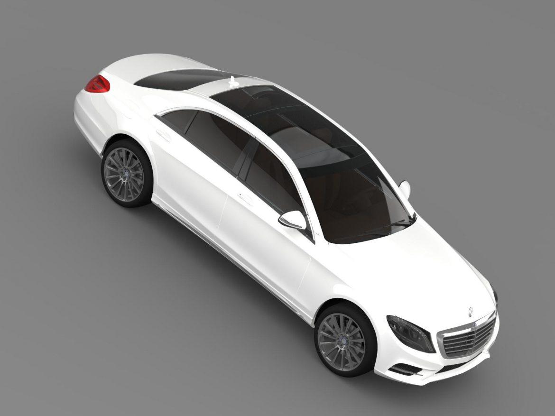 amg mercedes benz s 350 bluetec w222 2013 3d model 3ds fbx c4d lwo ma mb hrc xsi obj 204609