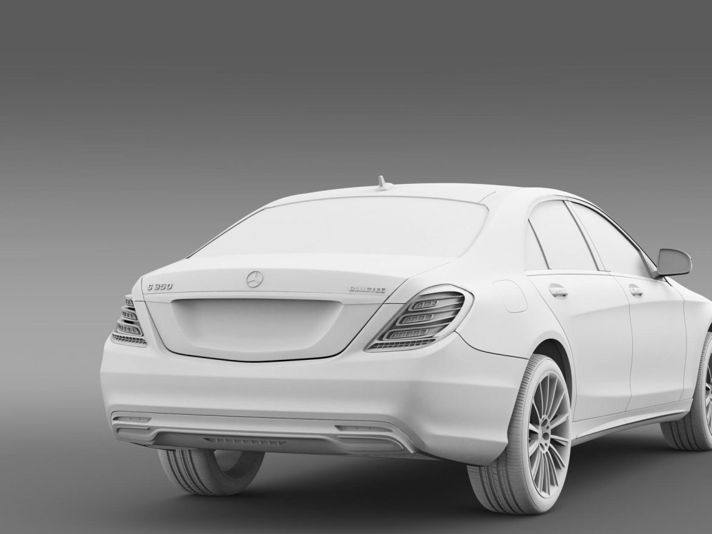 amg mercedes benz s 350 bluetec w222 2013 3d model 3ds fbx c4d lwo ma mb hrc xsi obj 204613