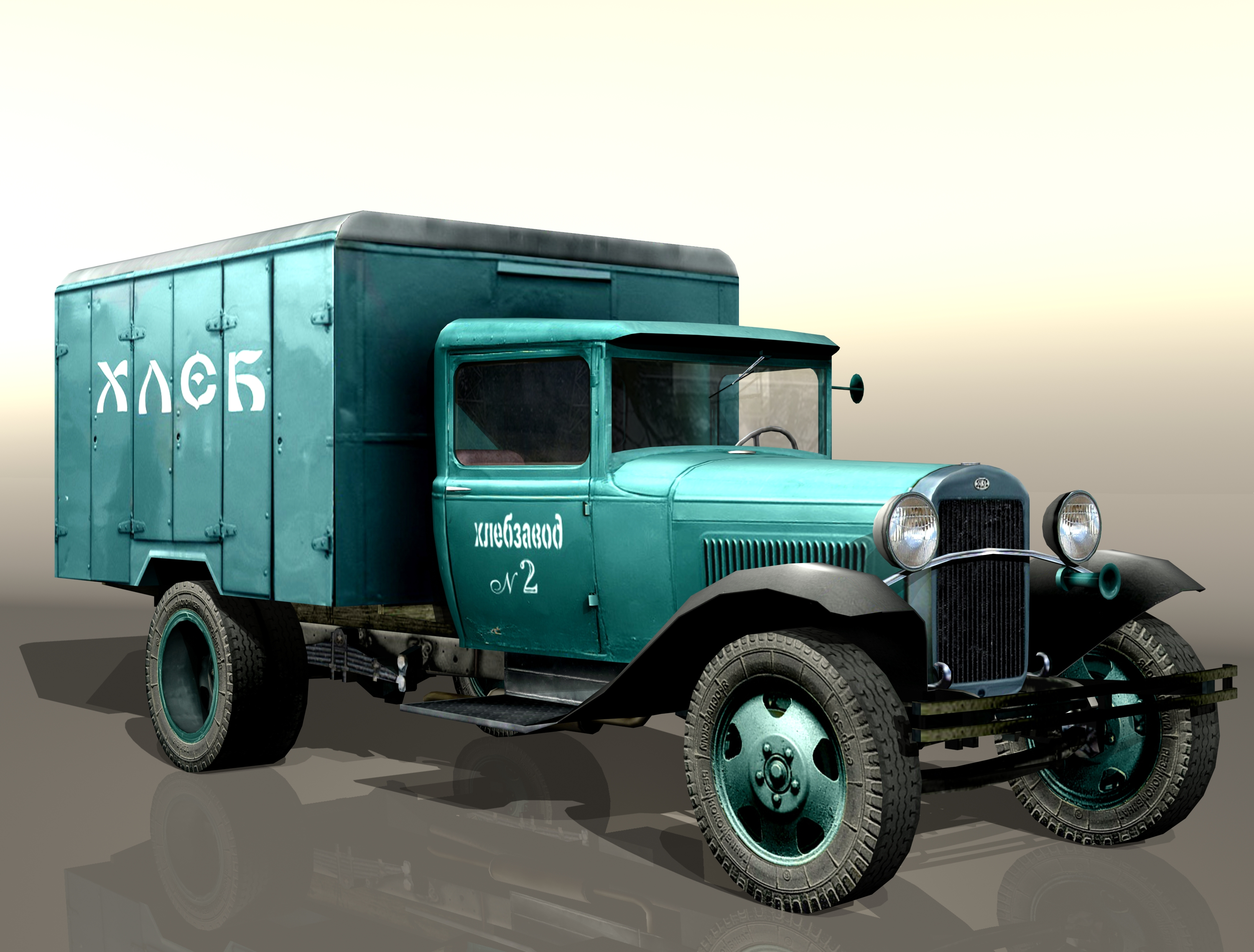 "gaz-aa ""bread"" 3d model 3ds max fbx 204621"