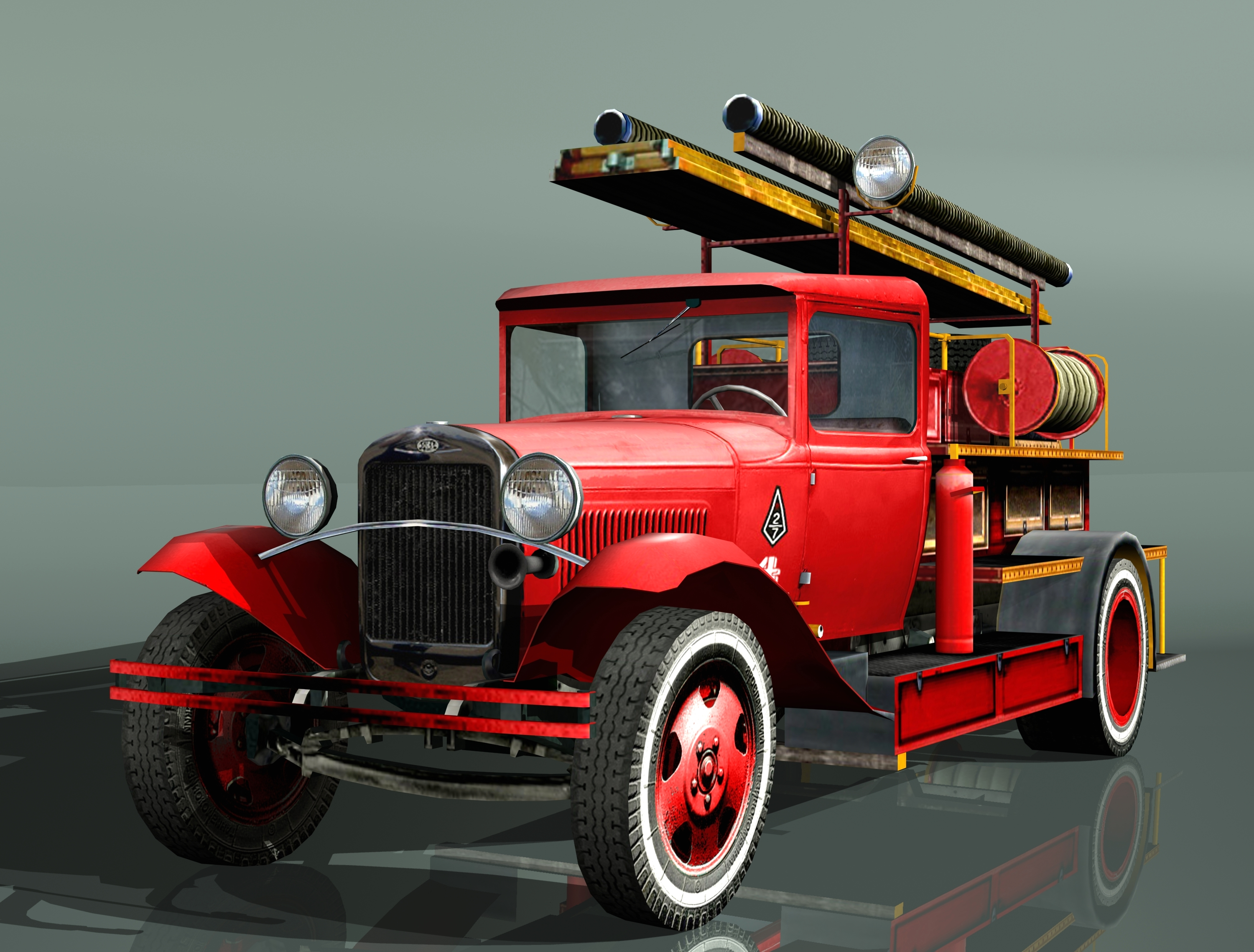 fire truck type pmg-1 3d model 3ds max fbx 204631