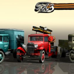 Cars GAZ-AA, collection 3d model 3ds max fbx