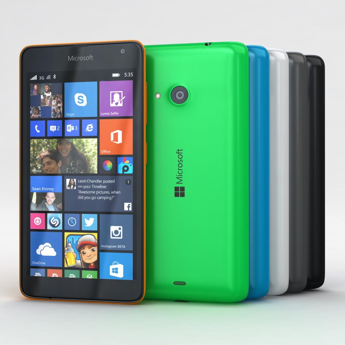 Microsoft Lumia 535 and Dual SIM All Colors 3d model 3ds max fbx c4d obj 204659