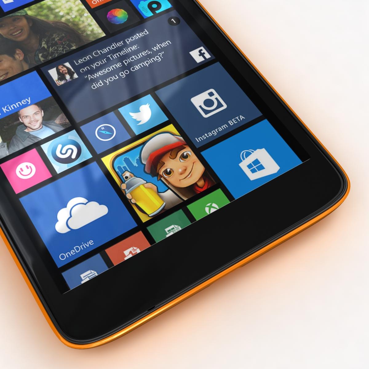 microsoft lumia 535 and dual sim all colors 3d model 3ds max fbx c4d obj 204662