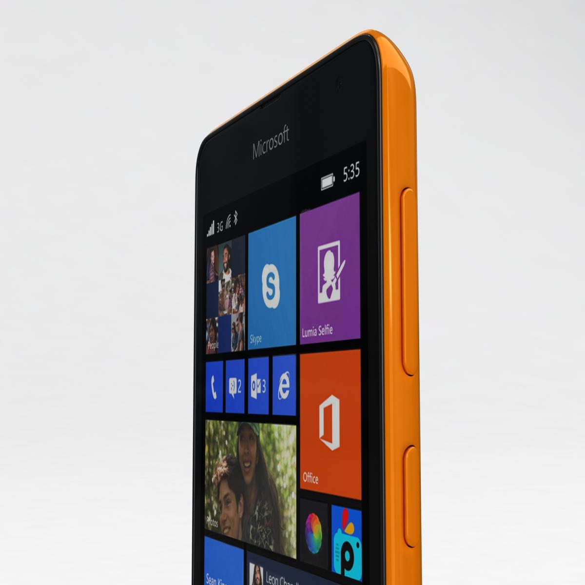 microsoft lumia 535 and dual sim all colors 3d model 3ds max fbx c4d obj 204666