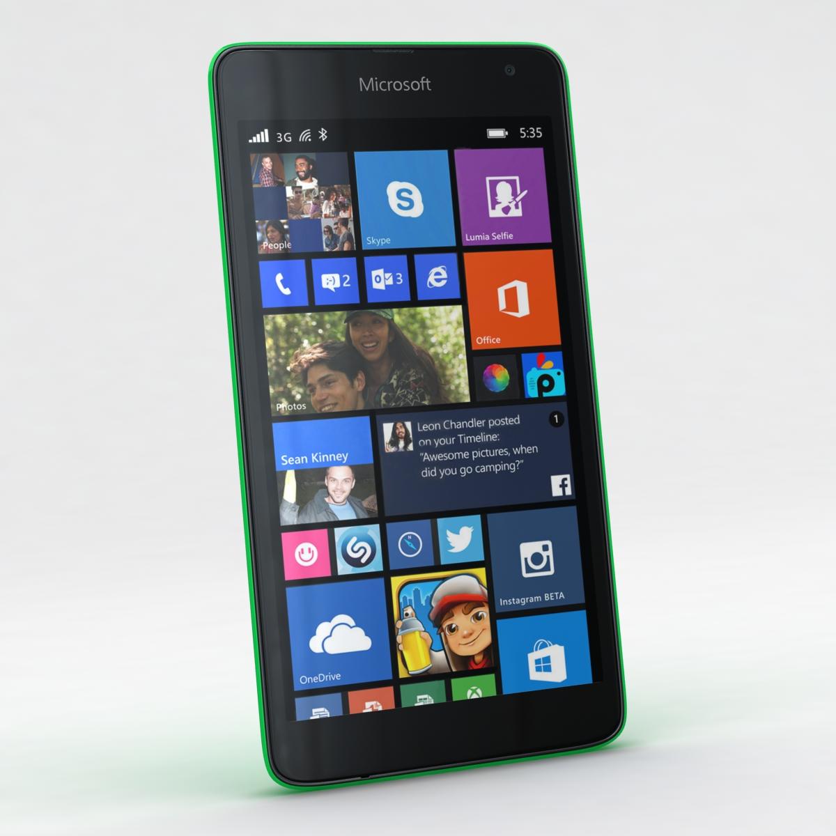 microsoft lumia 535 and dual sim all colors 3d model 3ds max fbx c4d obj 204669