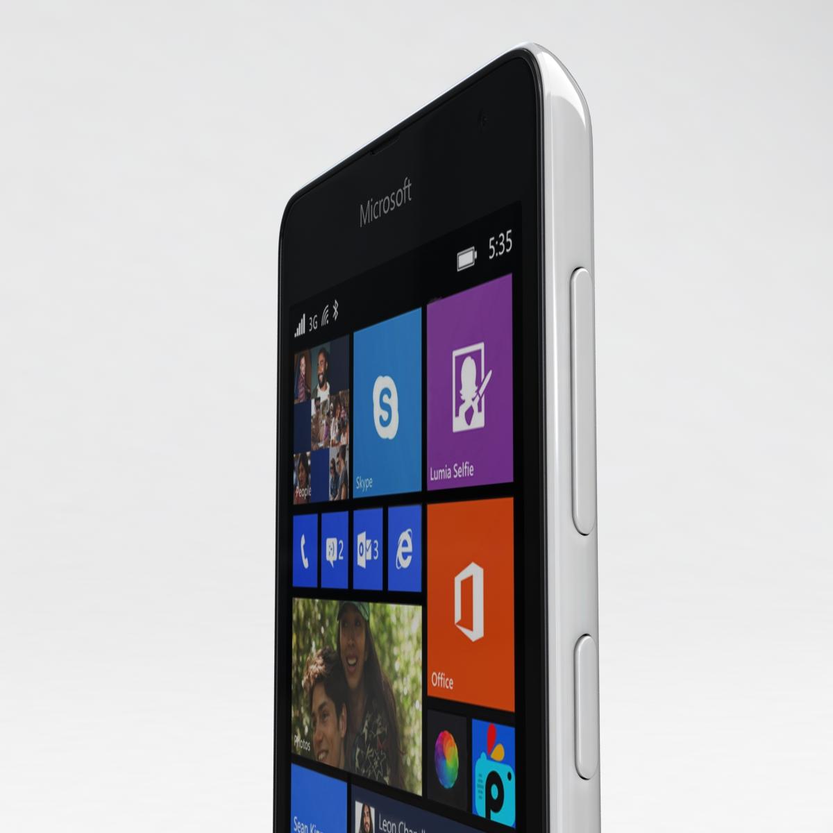 microsoft lumia 535 and dual sim all colors 3d model 3ds max fbx c4d obj 204685