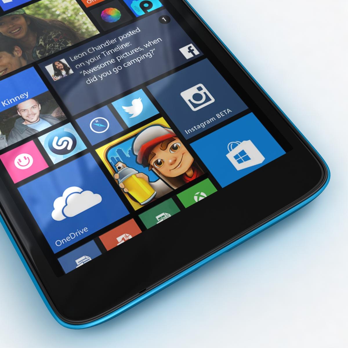 microsoft lumia 535 and dual sim all colors 3d model 3ds max fbx c4d obj 204696