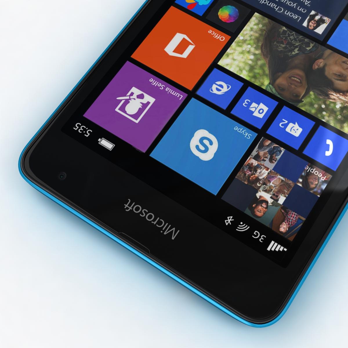 microsoft lumia 535 and dual sim all colors 3d model 3ds max fbx c4d obj 204697