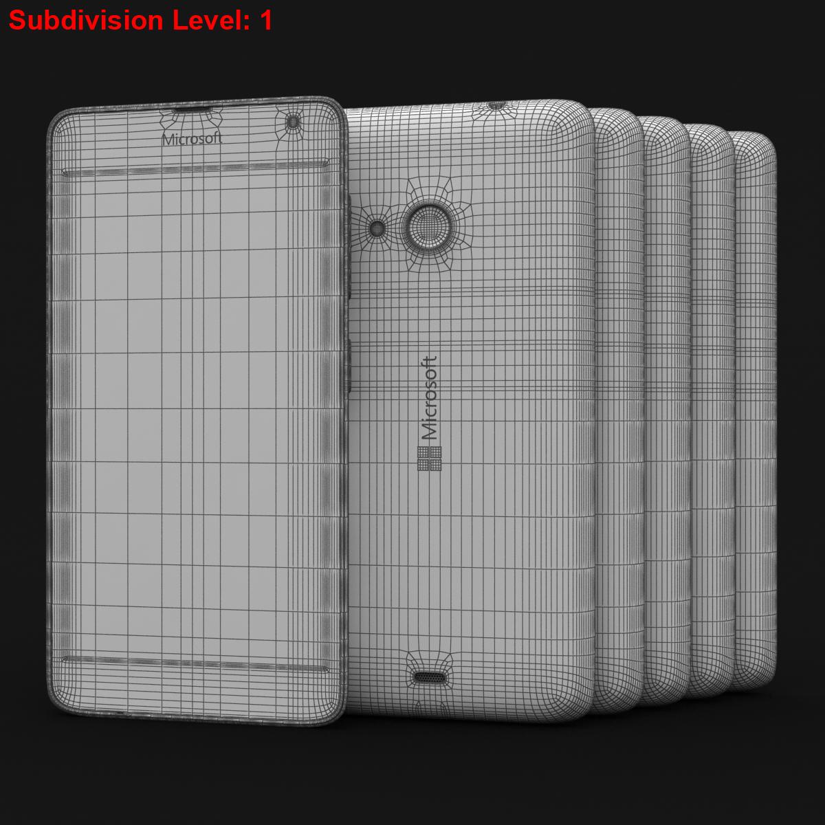 microsoft lumia 535 and dual sim all colors 3d model 3ds max fbx c4d obj 204710