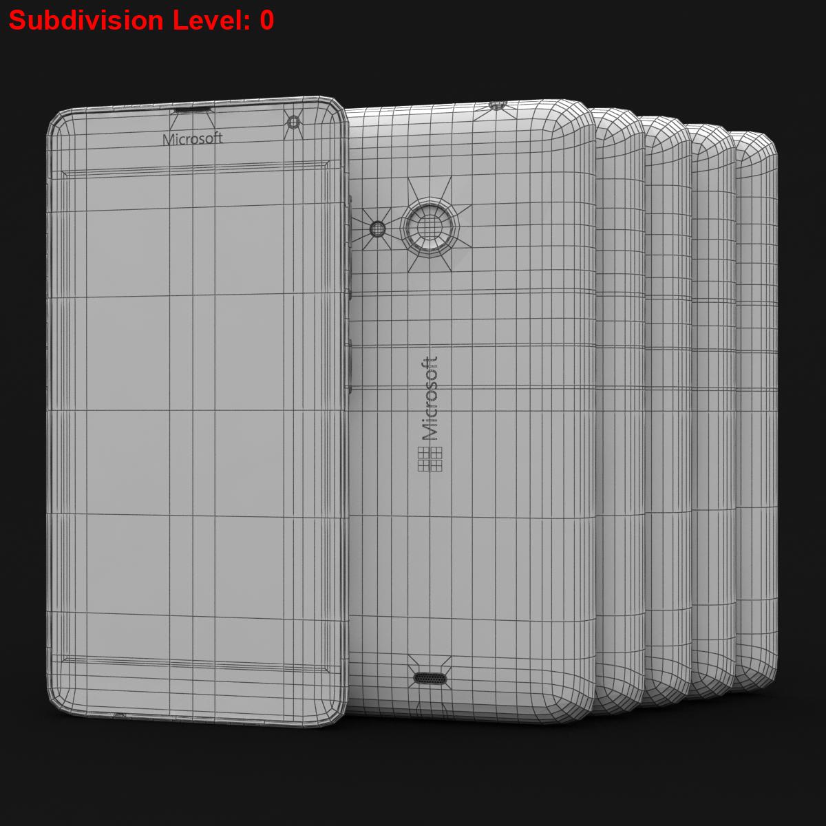 microsoft lumia 535 and dual sim all colors 3d model 3ds max fbx c4d obj 204711