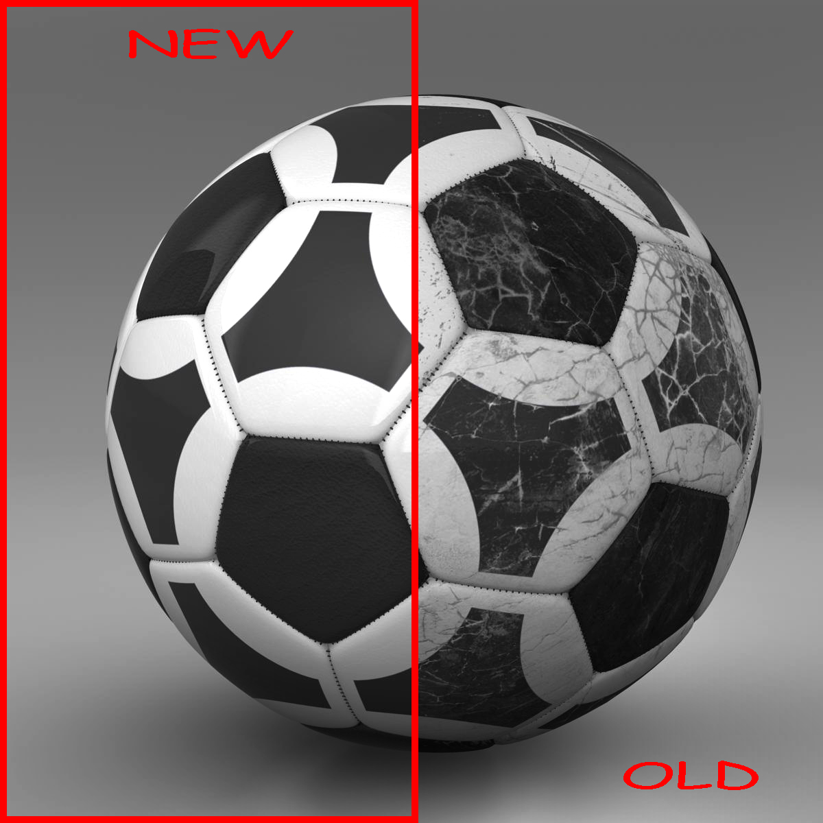 soccerball black white triangles 3d model 3ds max fbx c4d ma mb obj 204715