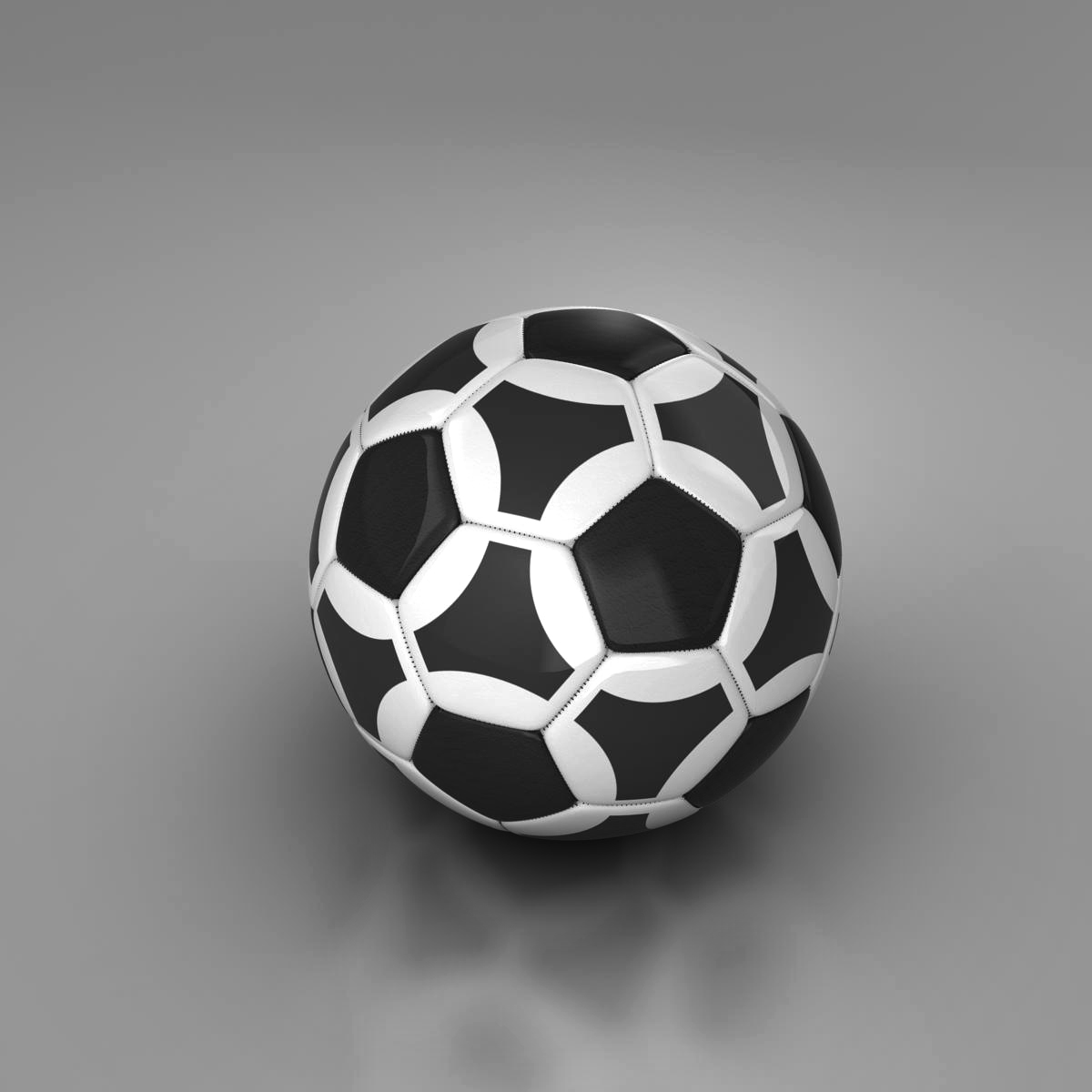 soccerball black white triangles 3d model 3ds max fbx c4d ma mb obj 204717