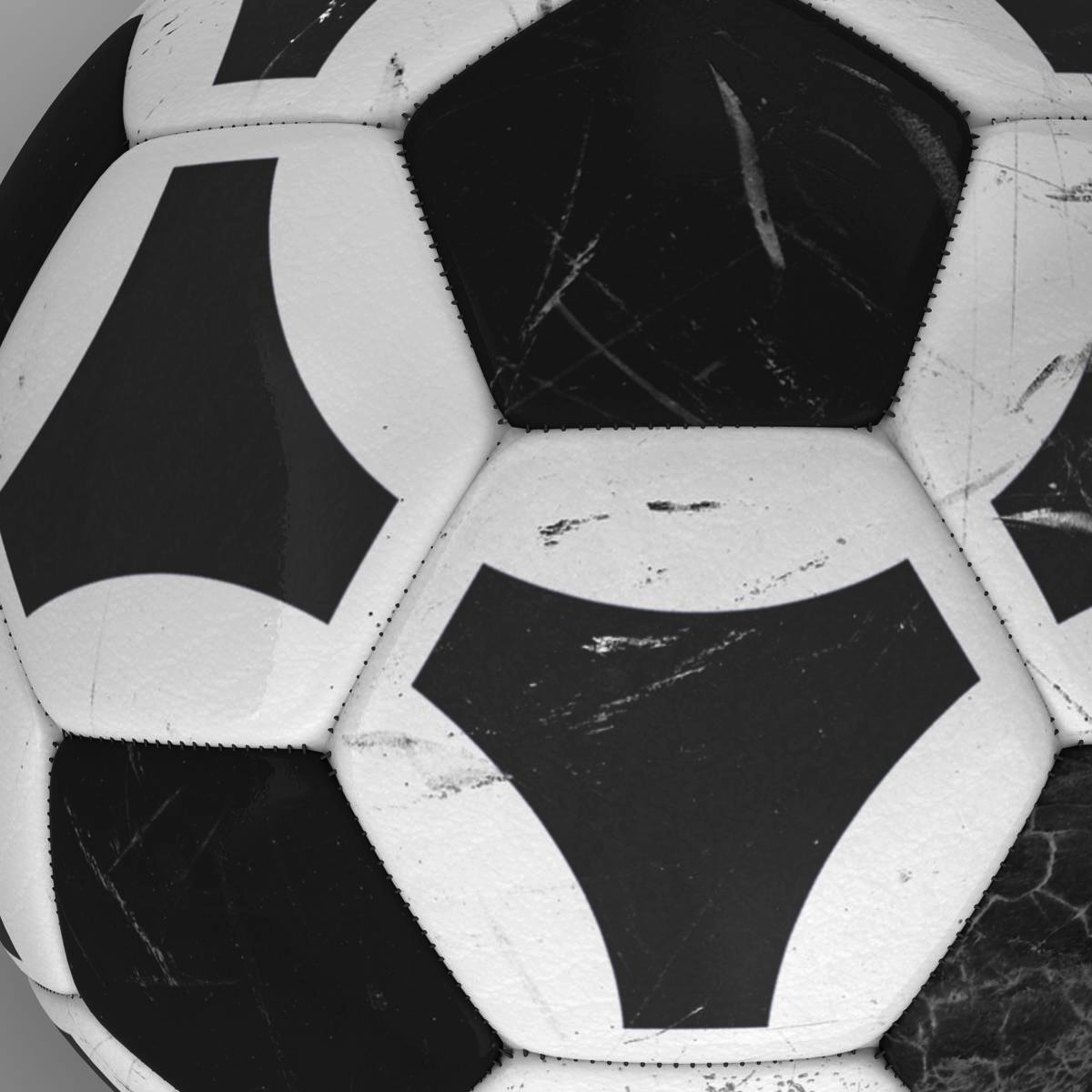 soccerball black white triangles 3d model 3ds max fbx c4d ma mb obj 204718
