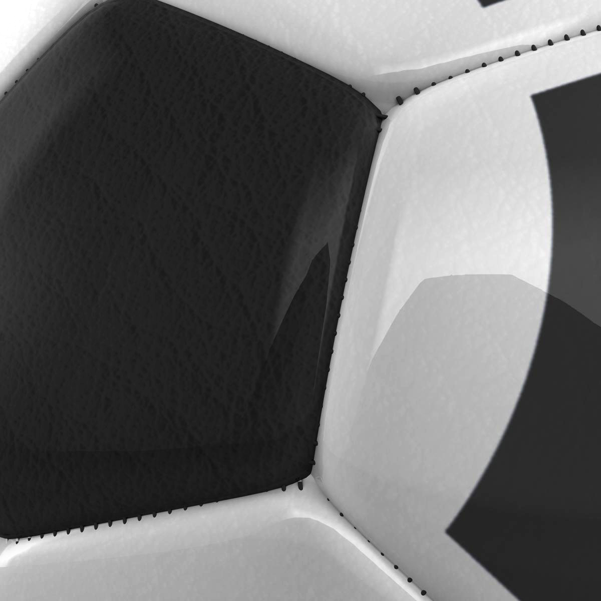 soccerball black white triangles 3d model 3ds max fbx c4d ma mb obj 204720
