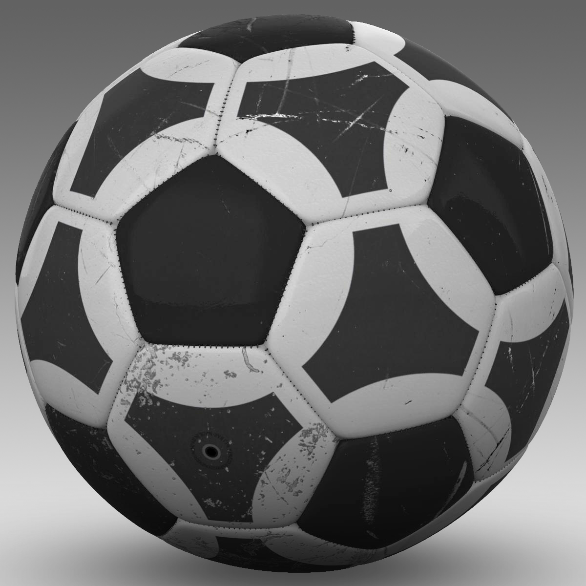 soccerball black white triangles 3d model 3ds max fbx c4d ma mb obj 204721