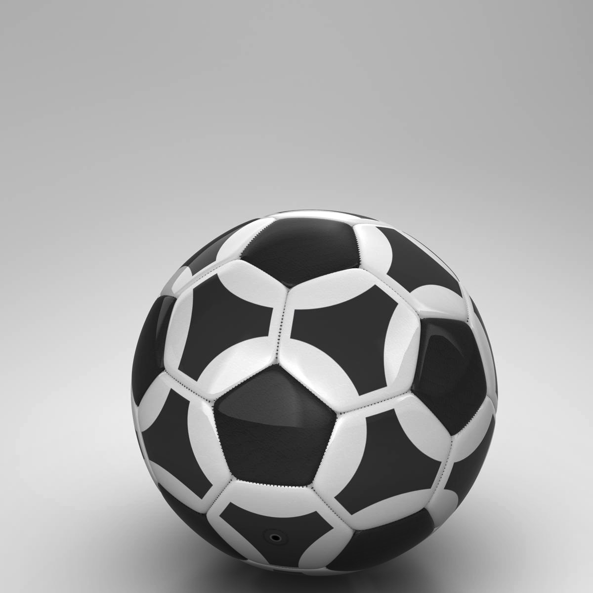 soccerball black white triangles 3d model 3ds max fbx c4d ma mb obj 204722